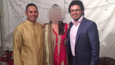 Cricketer Usman Khawaja, left, with brother ArsalanKhawaja.