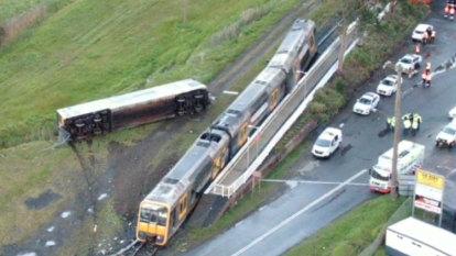 Passenger train derailed after hitting unattended stolen van on tracks