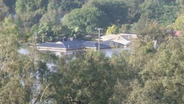 Lyn Lynch's Fernvale home was flooded to the ceiling at the height of the 2011 flood.