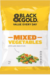 Black & Gold's frozen mixed vegetables have been recalled.