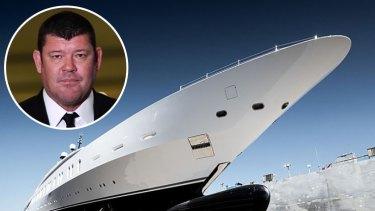 James Packer's new superyacht.