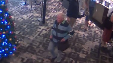 A CCTV image of Mr McCarthy at the York Hotel in the Sydney CBD on the afternoon of December 16.