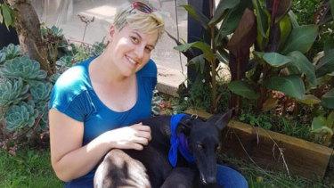 Ms Mandeltort and her dog.