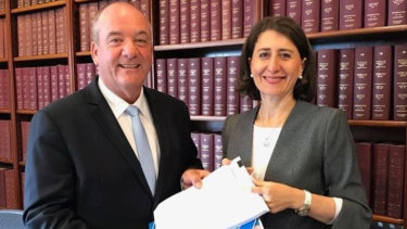 Daryl Maguire and NSW Premier Gladys Berejiklian.