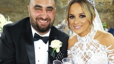 Joseph and Francheska Bechara on their wedding day.