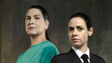 Pamela Rabe, left, has been named most outstanding actress for her role as Joan 'The Freak' Ferguson in Wentworth.