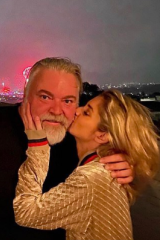 Kyle Sandilands and his girlfriend Tegan Kynaston.