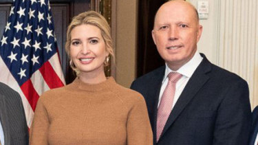 Peter Dutton met Ivanka Trump before being diagnosed with coronavirus