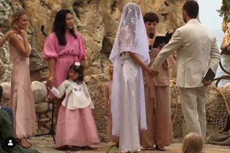 Vicki Lee and Ted O'Donnell tied the knot in an intimate ceremony in Sicily.