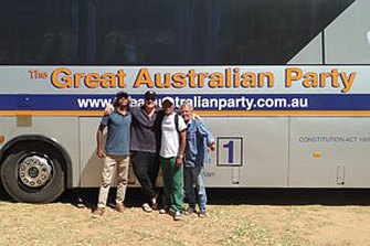 The Great Australian Party bus.