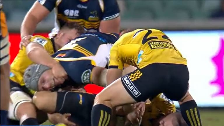 The Hurricanes targeted Pocock's neck during the Super Rugby season.