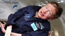 """""""You have to remember that nothing defies gravity"""": well, almost nothing - Hawking floats in a modified zero-gravity jet in  2007."""
