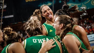 Decider: Liz Cambage and the Opals will face the US for the World Cup gold medal.