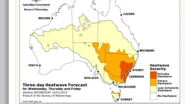 South-eastern Australia with see most unusually warm conditions on Wednesday.