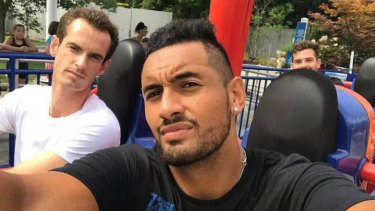 Australian tennis player Nick Kyrgios in a selfie with British counterpart Andy Murray.