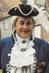 Robert Scott when dressed as a town crier in the UK.