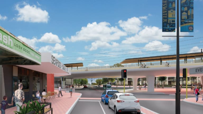 How the new Bayswater overpass will look once the upgrade is complete.