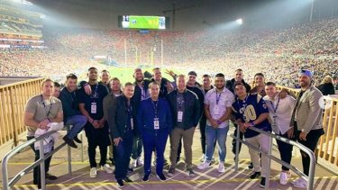 The Sydney Roosters visit the Los Angeles Coliseum during the week.
