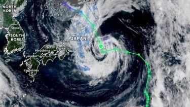 Typhoon Nepartak reached speeds of 85 km/h on Tuesday.