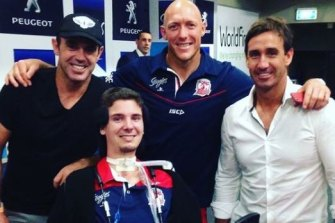 KurtDrysdale with Brad Fittler, Craig Fitzgibbon and Andrew Johns.