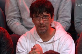 Duncan Storrar poses his question on Q&A.