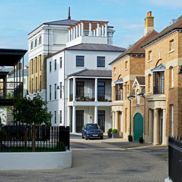 A street in one of the newer sections of Poundbury.
