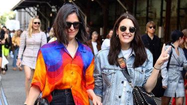 W editor (right) walking through Carriageworks.