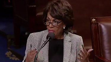 "Donald Trump said California Congresswoman Maxine Waters should ""be careful what you wish for""."