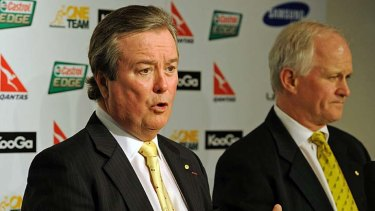 John O'Neill (left) during his days as boss of the ARU.