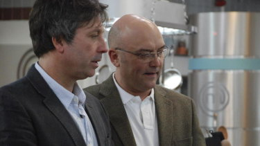 UK Masterchef judges John Torode and Gregg Wallace.