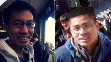 David Liew, left, and Mike Chan, right, met in a bar in Singapore and admitted to starting a spoofing syndicate together.