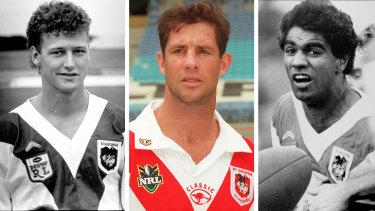 St George legends Brad Mackay, Mark Coyne andRicky Walford.