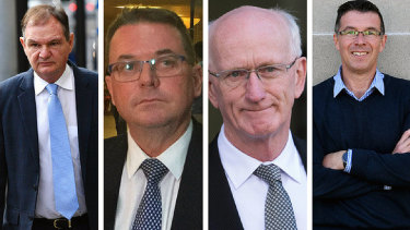 Queensland mayors (left-to-right) Paul Pisasale, Luke Smith, Chris Loft, andAndrew Antoniolli have all faced charges.