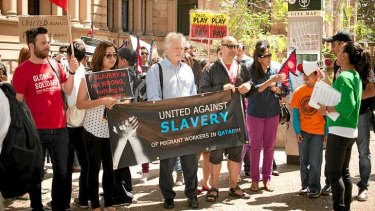 A Sydney protest against slavery.
