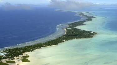 The crew of five people are stuck inside their hotel in Kiribati until their flight on Thursday.