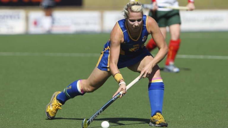 Canberra Strikers and Hockeyroos star Edwina Bone.