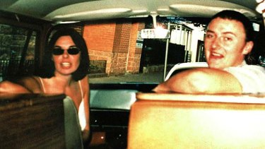 Still missing ... Peter Falconio, pictured in his van with Joanne Lees, before they were ambushed by a Bradley John Murdoch.