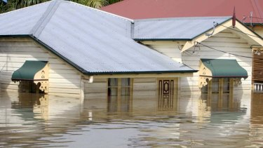 A familiar scene in south-east Queensland in the January 2011 floods, more than eight years ago.