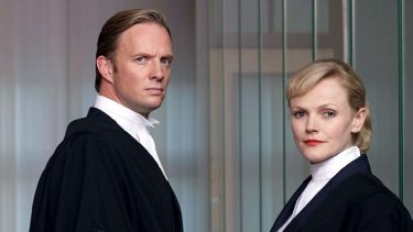 Rupert Penry-Jones and Maxine Peake in the British drama <em>Silk</em>.