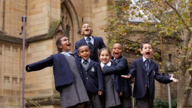 St Andrew's Cathedral School, which provides scholarships for Aboriginal children (pictured here), is among Anglican schools which want to preserve the culture parents sign up for.