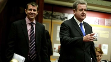 Barry O'Farrell and Mike Baird.