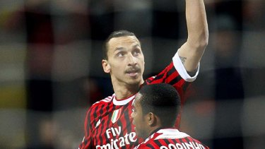 A-League bound?: Former AC Milan striker Zlatan Ibrahimovic could be tempted to sign with Perth Glory.