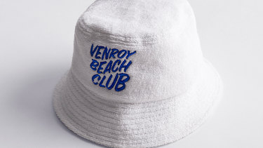Venroy bucket hat in terrycloth is this summer's hottest accessory.