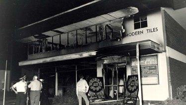 The aftermath of the Whiskey Au Go Go nightclub firebombing.