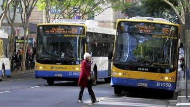 TransLink warned commuters Brisbane CBD buses were facing 15-minute delays at 7.30am.