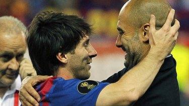 Special: Lionel Messi and Josep Guardiola.