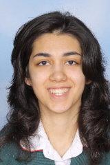 Maryam Eghtedari in Year 12 at Canberra Girls Grammar.
