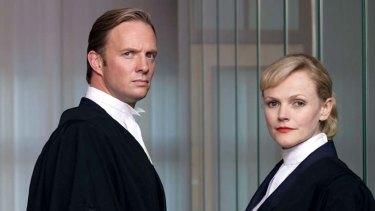 Rupert Penry-Jones and Maxine Peake in the British drama <em>Silk</em>.