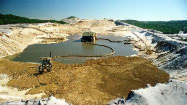 Sand mining on North Stradbroke Island.