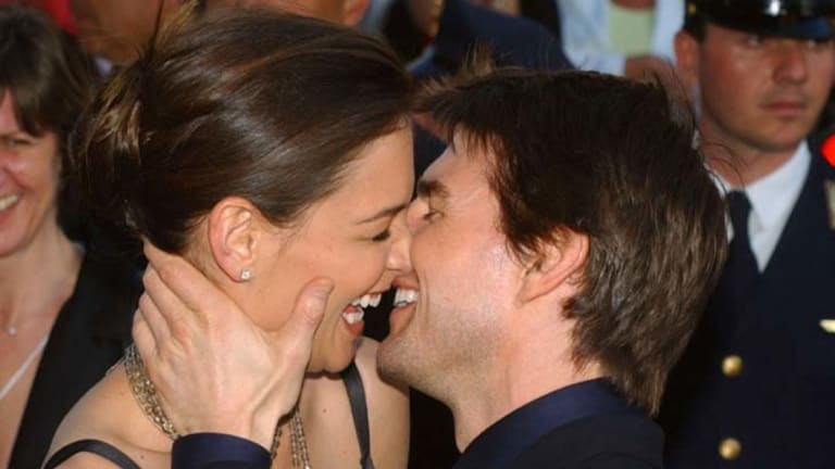 Tom Cruise, right, and Katie Holmes
